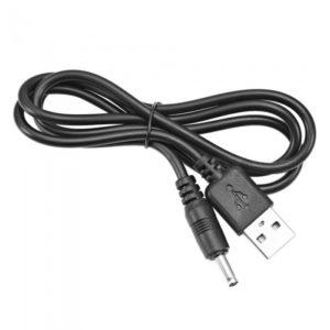 כבל USB TO 3.5MM BARREL JACK 5V DC POWER BLACK 1M VENTION