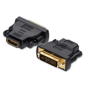 מתאם HDMI FEMALE TO DVI (24+1) MALE BLACK VENTION