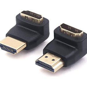 מתאם HDMI 270 DEGREE MALE TO FEMALE BLACK VENTION